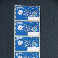 Sellos: ESPAÑA.AÑO 1996./COMUNICACIONES ESPACIALES.TIRA DE 5 ETIQUETAS POSTALES NUEVAS Y LIMPIAS.. Lote 207219863