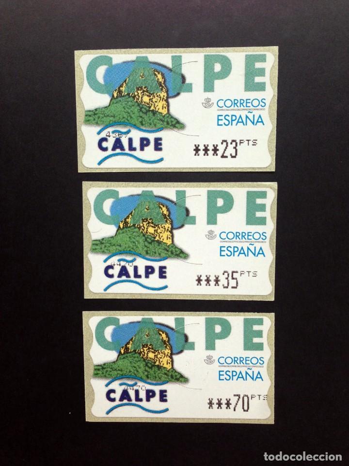 ESPAÑA.AÑO 1999.ETIQUETA POSTAL CALPE (SERIE COMPLETA). (Sellos - España - Juan Carlos I - Desde 1.986 a 1.999 - Nuevos)