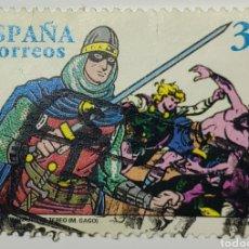 Sellos: SELLO ESPAÑA, CÓMICS, PERSONAJES TEBEOS, GUERRERO ANTIFAZ, 1997. Lote 207242541
