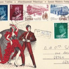 Sellos: SOBRE CIRCULADO DE SOLLER BALEARES A FRANCIA - SEP 1981 - BONITA IMAGEN FLAMENCO. Lote 207262688