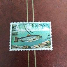 Sellos: SELLO FAUNA HISPÁNICA TRUCHA ESPAÑA. Lote 207281086