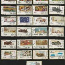 Timbres: 25 ATMS ETIQUETAS AJUSTE TÉRMICOS DE ESPAÑA. MODELOS DIFERENTES. Lote 207608208