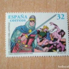 Sellos: SELLO ESPAÑA 1997 - GUERRERO DEL ANTIFAZ - CÓMICS. PERSONAJES DE TEBEO (M. GAGO) - VALOR: 32 PTAS. Lote 207718688