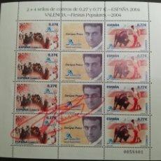 Sellos: 2004. ED 4089/90 MP 83 ** EXPOSICIÓN MUNDIAL DE FILATELIA ESPAÑA 2004 VALENCIA. ENRIQUE PONCE.. Lote 208114782