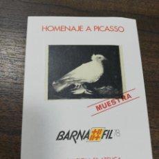 Sellos: HOMENAJE A PICASSO, BARNAFIL AÑO 1978, PALOMA DE PICASSO, NUEVO. MUESTRA.. Lote 208234405