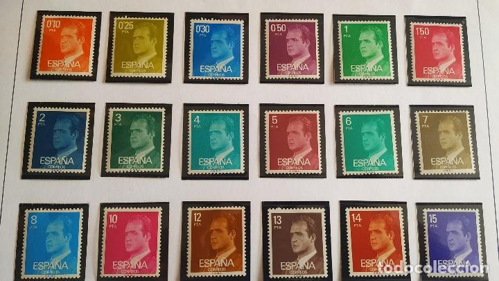 Sellos: Lote Series básicas Juan Carlos I . 29 valores . Nuevos. - Foto 2 - 208238632