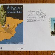 Sellos: ESPAÑA, SOBRE N°4390 ÁRBOLES MONUMENTALES 2008 (FOTOGRAFÍA REAL). Lote 208744690