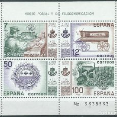 Sellos: 1981. EDIFIL HOJITA 2641**MNH. YT HB 30. MUSEO POSTAL Y DE TELECOMUNICACIÓN. POSTAL MUSEUM.. Lote 208757257