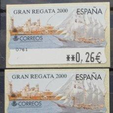 Sellos: ETIQUETAS ATM - GRAN REGATA 2000 - SERIE 3 VALORES EN €UROS NUEVAS **. Lote 208803785
