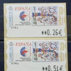 Sellos: ETIQUETAS ATM - CONCURSO PINTA TU SELLO DIBUJO GANADOR - SERIE 3 VALORES - NUEVAS **. Lote 208964297