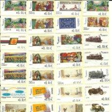 Sellos: 45 ATMS , DE 4 DÍGITOS , NUEVAS Y DIFERENTES , VALORES MINIMOS , ESPAÑA. Lote 209107582