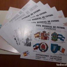 Sellos: SELLOS ESPAÑA 1982 MUNDIAL FUTBOL 10 HB. Lote 209360391