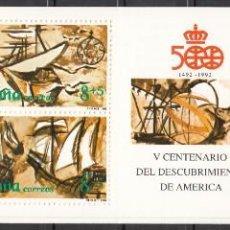 Selos: ESPAÑA, 1989 EDIFIL Nº 3029 / 3034, 3029C /**/ V CENTENARIO DEL DESCUBRIMIENTO DE AMÉRICA.. Lote 209777642
