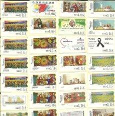 Sellos: 87 ATMS , DE 6 DÍGITOS , NUEVAS Y DIFERENTES , VALORES MÍNIMOS , ESPAÑA. Lote 209979302