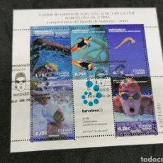 Sellos: ESPAÑA HB 3991 USADO 2003 MATASELLOS NATACIÓN. Lote 210171940