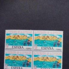 Sellos: BLOQUE DE 4 SELLOS NUEVOS. V CENTENARIO DE LA FUNDACION DE LAS PALMAS DE GRAN CANARIA. 1978. Lote 210350775