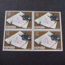 Sellos: BLOQUE DE 4 SELLOS NUEVOS. HOMENAJE A LA PRENSA 1981. 12 PTA. CORREOS ESPAÑA. Lote 210391912