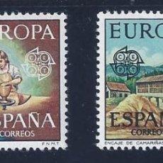 Sellos: EDIFIL 2316-2317 EUROPA CEPT 1976 (SERIE COMPLETA). MNH **. Lote 210482968