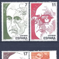 Sellos: EDIFIL 2853-2856 PERSONAJES 1986 (SERIE COMPLETA). MNH **. Lote 210518002