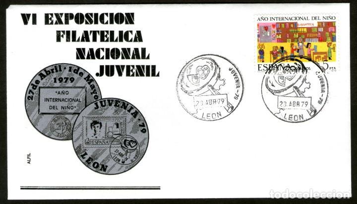 SOBRE CONM. VI EXP. FILATELICA NACIONAL JUVENIL EN LEON.1.979 (Sellos - España - Juan Carlos I - Desde 1.975 a 1.985 - Cartas)