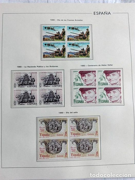 ESPAÑA SELLOS 1980 BLOQUE DE 4 EN HOJAS EDIFIL CON FILO TRANSPARENTE HEBS 80 (Sellos - España - Juan Carlos I - Desde 1.975 a 1.985 - Nuevos)