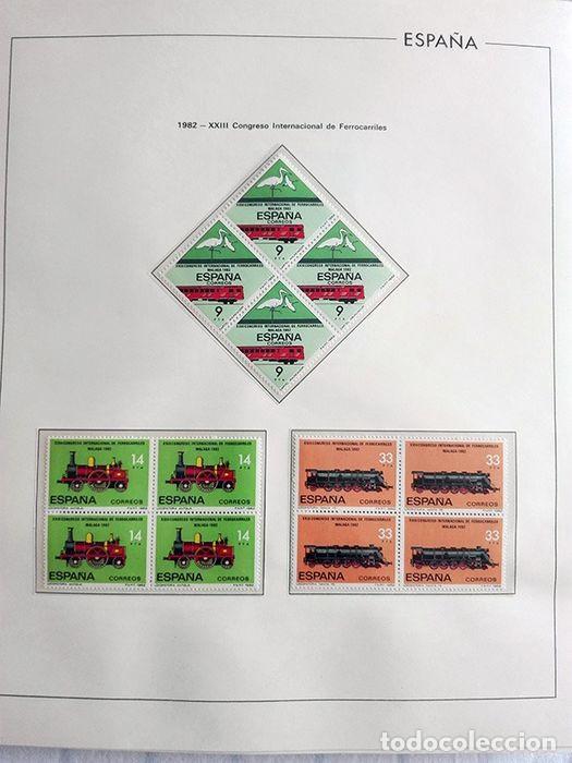 ESPAÑA SELLOS 1982 BLOQUE DE 4 EN HOJAS EDIFIL CON FILO TRANSPARENTE HEBS 82 (Sellos - España - Juan Carlos I - Desde 1.975 a 1.985 - Nuevos)