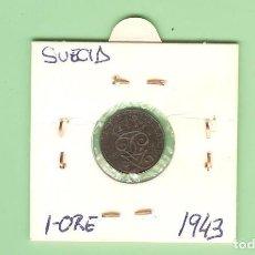 Sellos: SUECIA. 1 ORE 1943. HIERRO. KM#810. Lote 211624119