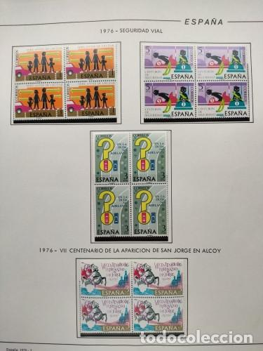 Sellos: España sellos año 1976 bloque de 4 con Suplemento hojas Filabo negro HFBS70 76 - Foto 2 - 211685156