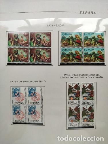 Sellos: España sellos año 1976 bloque de 4 con Suplemento hojas Filabo negro HFBS70 76 - Foto 3 - 211685156