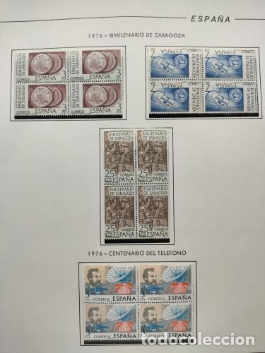 Sellos: España sellos año 1976 bloque de 4 con Suplemento hojas Filabo negro HFBS70 76 - Foto 4 - 211685156