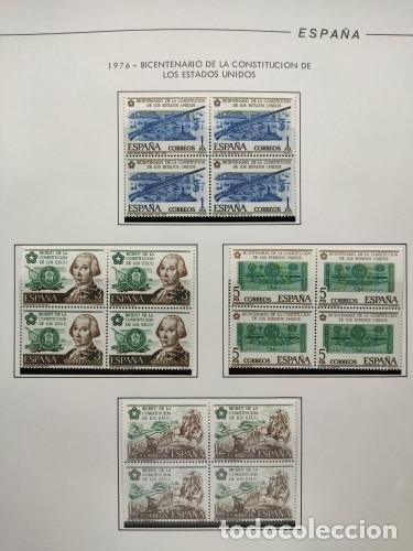 Sellos: España sellos año 1976 bloque de 4 con Suplemento hojas Filabo negro HFBS70 76 - Foto 5 - 211685156