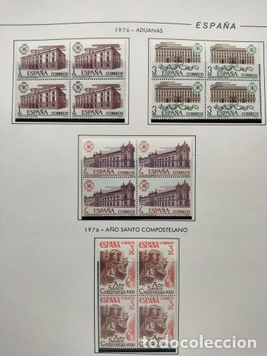 Sellos: España sellos año 1976 bloque de 4 con Suplemento hojas Filabo negro HFBS70 76 - Foto 6 - 211685156