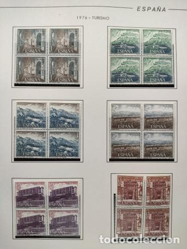 Sellos: España sellos año 1976 bloque de 4 con Suplemento hojas Filabo negro HFBS70 76 - Foto 8 - 211685156