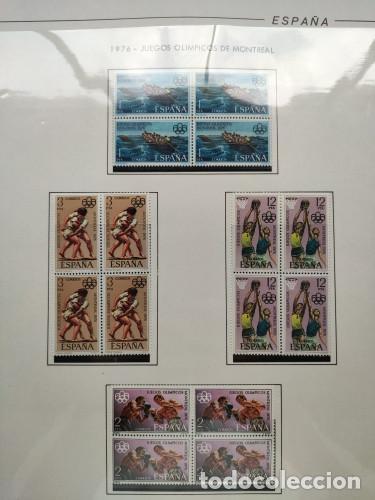 Sellos: España sellos año 1976 bloque de 4 con Suplemento hojas Filabo negro HFBS70 76 - Foto 9 - 211685156
