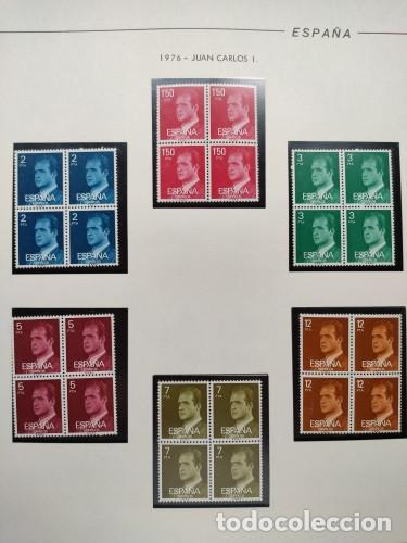 Sellos: España sellos año 1976 bloque de 4 con Suplemento hojas Filabo negro HFBS70 76 - Foto 10 - 211685156
