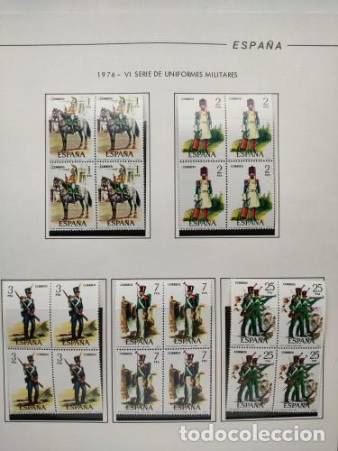 Sellos: España sellos año 1976 bloque de 4 con Suplemento hojas Filabo negro HFBS70 76 - Foto 11 - 211685156