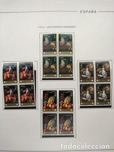 Sellos: España sellos año 1976 bloque de 4 con Suplemento hojas Filabo negro HFBS70 76 - Foto 12 - 211685156