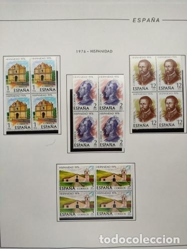 Sellos: España sellos año 1976 bloque de 4 con Suplemento hojas Filabo negro HFBS70 76 - Foto 14 - 211685156
