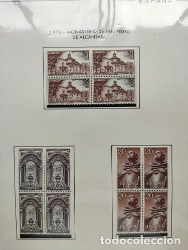 Sellos: España sellos año 1976 bloque de 4 con Suplemento hojas Filabo negro HFBS70 76 - Foto 15 - 211685156