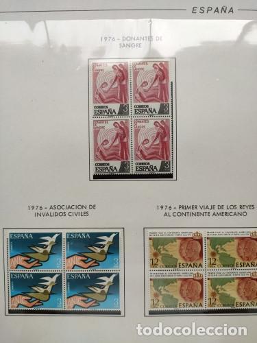 Sellos: España sellos año 1976 bloque de 4 con Suplemento hojas Filabo negro HFBS70 76 - Foto 16 - 211685156