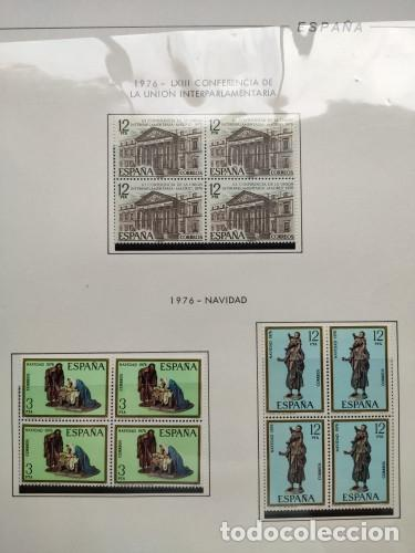 Sellos: España sellos año 1976 bloque de 4 con Suplemento hojas Filabo negro HFBS70 76 - Foto 18 - 211685156