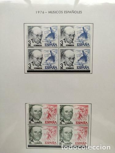 Sellos: España sellos año 1976 bloque de 4 con Suplemento hojas Filabo negro HFBS70 76 - Foto 19 - 211685156