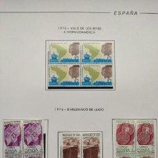 Selos: ESPAÑA SELLOS AÑO 1976 EN BLOQUE DE 4 MONTADO EN HOJAS EDIFIL CON FILO NEGROS VER IMAGENES HEBS70 76. Lote 211800596