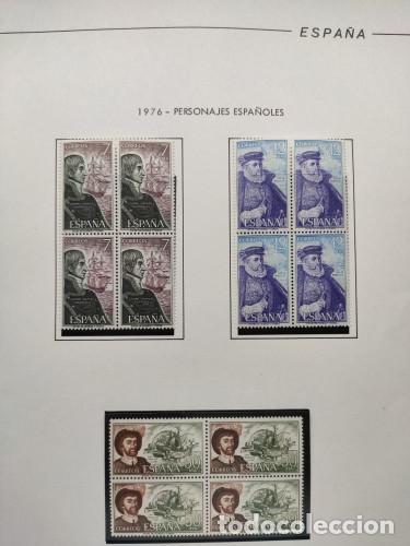 Sellos: España sellos año 1976 en bloque de 4 montado en Hojas Edifil con filo negros Ver Imagenes HEBS70 76 - Foto 4 - 211800596