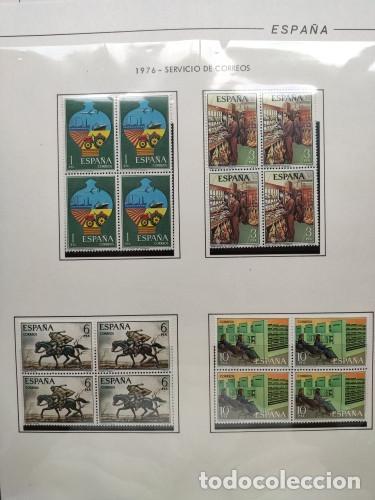 Sellos: España sellos año 1976 en bloque de 4 montado en Hojas Edifil con filo negros Ver Imagenes HEBS70 76 - Foto 10 - 211800596