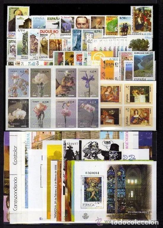 ESPAÑA SELLOS 2002 AÑO COMPLETO EDIFIL 3857 A 3956 ** SIN CHARNELA (Sellos - España - Juan Carlos I - Desde 2.000 - Nuevos)