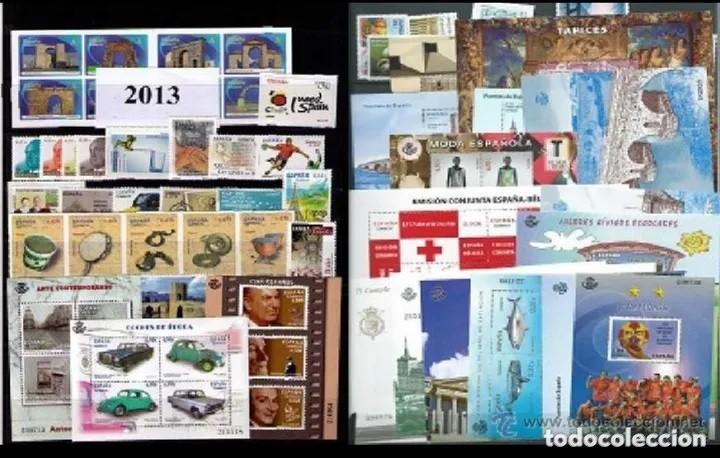 ESPAÑA SELLOS 2013 AÑO COMPLETO EDIFIL 4763 A 4837 ** SIN CHARNELA MNH (Sellos - España - Juan Carlos I - Desde 2.000 - Nuevos)