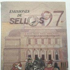 Sellos: LIBRO OFICIAL DE CORREOS AÑO 1997 CON LA EMISION DE SELLOS DE ESPAÑA Y ANDORRA. Lote 212010936