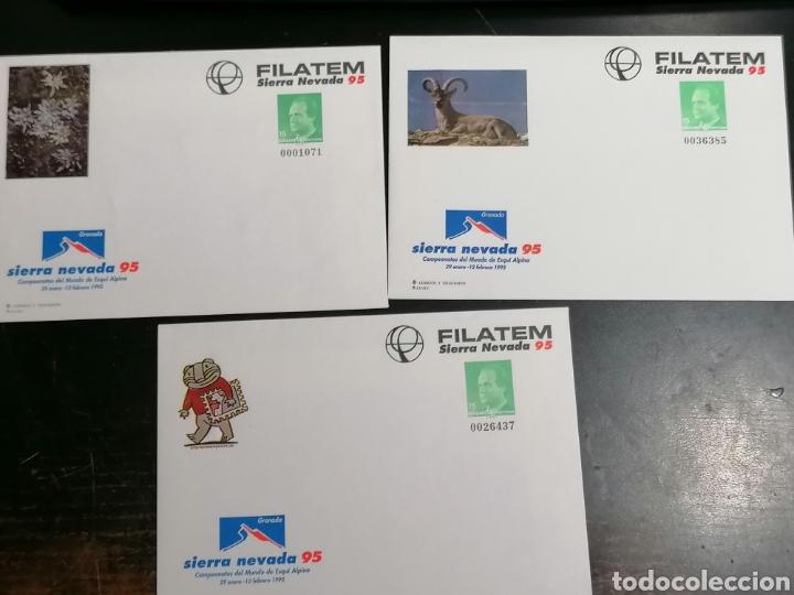 ESPAÑA SIERRA NEVADA ENTERO POSTAL EDIFIL 25 3 DIFERENTES (Sellos - España - Juan Carlos I - Desde 1.986 a 1.999 - Cartas)