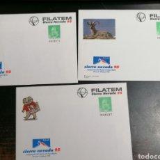 Sellos: ESPAÑA SIERRA NEVADA ENTERO POSTAL EDIFIL 25 3 DIFERENTES. Lote 212011748